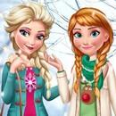 Elsa ve Anna Kış Modası